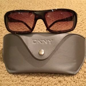 Womens DKNY sunglasses with case